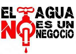privatización agua NO