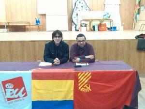 Els camarades Alberto Gómez i Jovi Langa